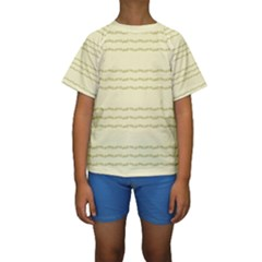 Background Pattern Lines Kids  Short Sleeve Swimwear