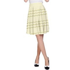 Background Pattern Lines A-Line Skirt