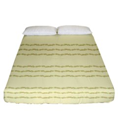 Background Pattern Lines Fitted Sheet (california King Size)