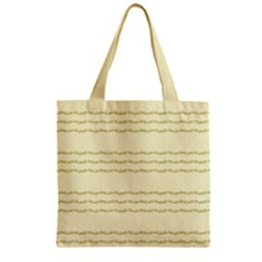 Background Pattern Lines Zipper Grocery Tote Bag