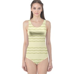 Background Pattern Lines One Piece Swimsuit