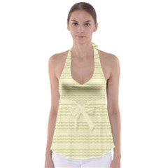 Background Pattern Lines Babydoll Tankini Top