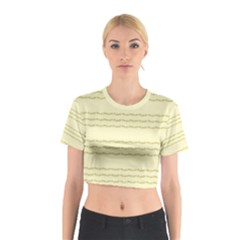 Background Pattern Lines Cotton Crop Top
