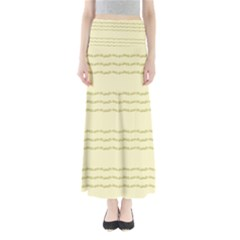 Background Pattern Lines Maxi Skirts