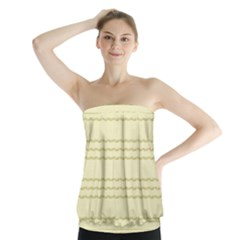 Background Pattern Lines Strapless Top