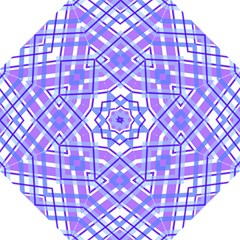 Geometric Plaid Pale Purple Blue Straight Umbrellas