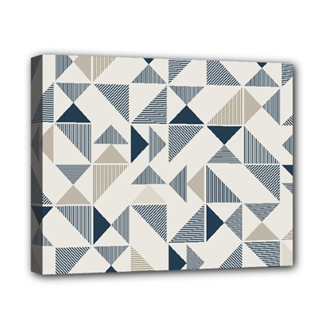 Geometric Triangle Modern Mosaic Canvas 10  x 8