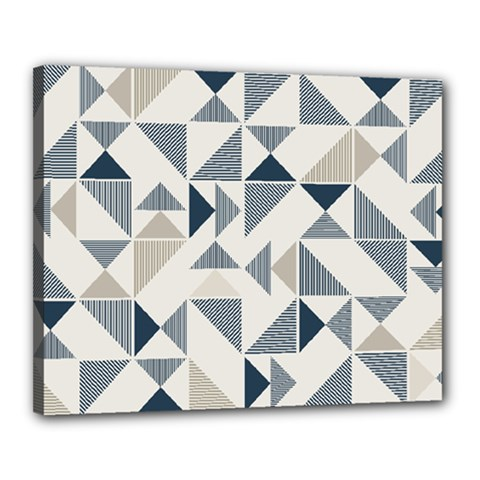 Geometric Triangle Modern Mosaic Canvas 20  X 16