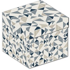 Geometric Triangle Modern Mosaic Storage Stool 12