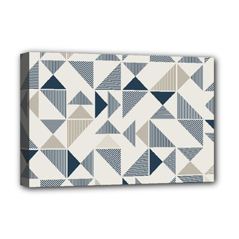 Geometric Triangle Modern Mosaic Deluxe Canvas 18  X 12