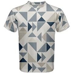 Geometric Triangle Modern Mosaic Men s Cotton Tee