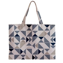 Geometric Triangle Modern Mosaic Zipper Mini Tote Bag
