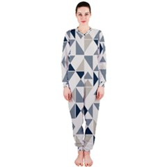 Geometric Triangle Modern Mosaic OnePiece Jumpsuit (Ladies)