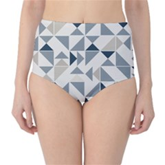 Geometric Triangle Modern Mosaic High Waist Bikini Bottoms