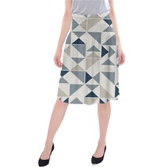 Geometric Triangle Modern Mosaic Midi Beach Skirt