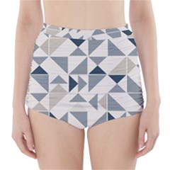 Geometric Triangle Modern Mosaic High Waisted Bikini Bottoms