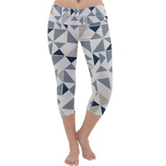 Geometric Triangle Modern Mosaic Capri Yoga Leggings