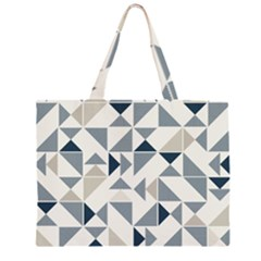 Geometric Triangle Modern Mosaic Zipper Large Tote Bag