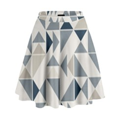 Geometric Triangle Modern Mosaic High Waist Skirt