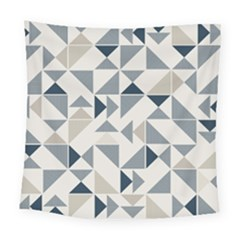 Geometric Triangle Modern Mosaic Square Tapestry (large)