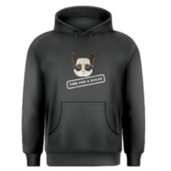 Grey time for a break cat  Men s Pullover Hoodie