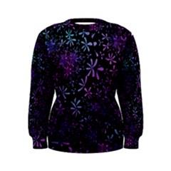 Retro Flower Pattern Design Batik Women s Sweatshirt