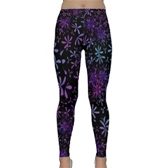 Retro Flower Pattern Design Batik Classic Yoga Leggings