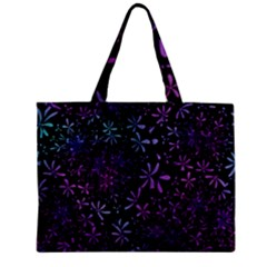 Retro Flower Pattern Design Batik Zipper Mini Tote Bag