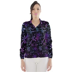 Retro Flower Pattern Design Batik Wind Breaker (Women)