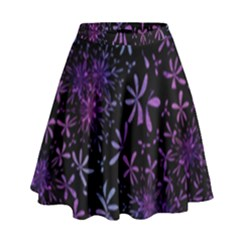 Retro Flower Pattern Design Batik High Waist Skirt