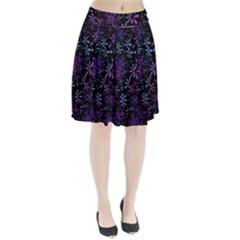 Retro Flower Pattern Design Batik Pleated Skirt