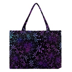 Retro Flower Pattern Design Batik Medium Tote Bag