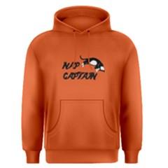 Orange Nap Captain Cat Men s Pullover Hoodie