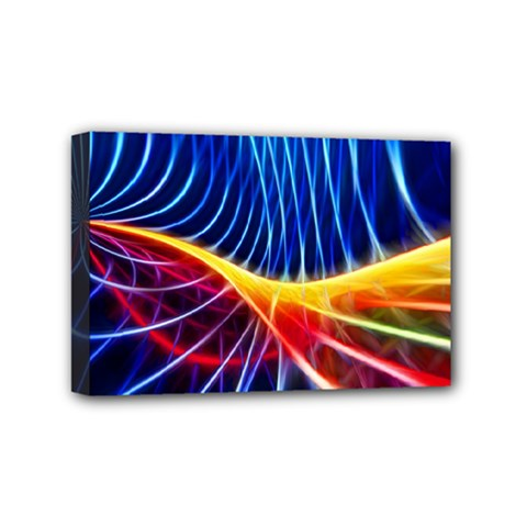 Color Colorful Wave Abstract Mini Canvas 6  X 4