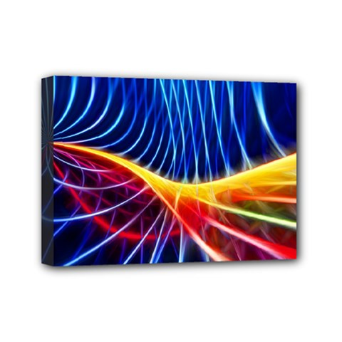Color Colorful Wave Abstract Mini Canvas 7  X 5