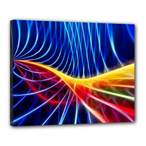 Color Colorful Wave Abstract Canvas 20  x 16