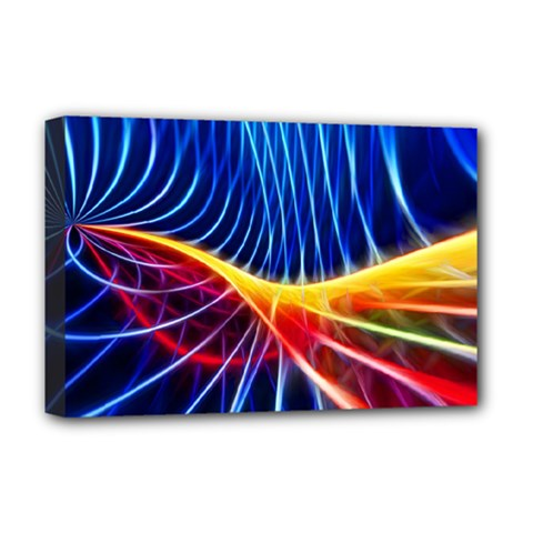 Color Colorful Wave Abstract Deluxe Canvas 18  x 12