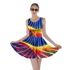 Color Colorful Wave Abstract Skater Dress