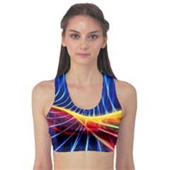 Color Colorful Wave Abstract Sports Bra