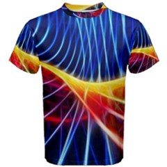 Color Colorful Wave Abstract Men s Cotton Tee