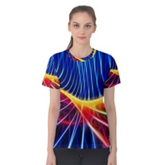 Color Colorful Wave Abstract Women s Cotton Tee