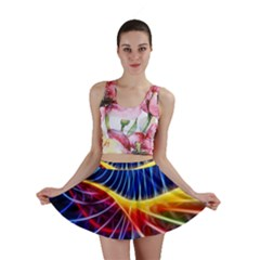 Color Colorful Wave Abstract Mini Skirt