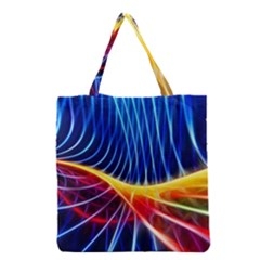 Color Colorful Wave Abstract Grocery Tote Bag