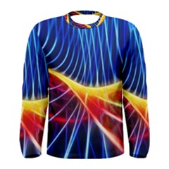 Color Colorful Wave Abstract Men s Long Sleeve Tee