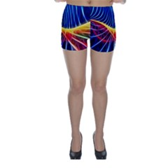 Color Colorful Wave Abstract Skinny Shorts