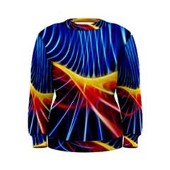 Color Colorful Wave Abstract Women s Sweatshirt