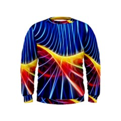 Color Colorful Wave Abstract Kids  Sweatshirt