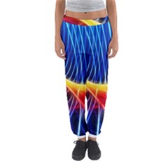 Color Colorful Wave Abstract Women s Jogger Sweatpants