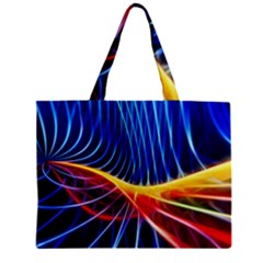 Color Colorful Wave Abstract Zipper Mini Tote Bag