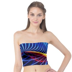 Color Colorful Wave Abstract Tube Top